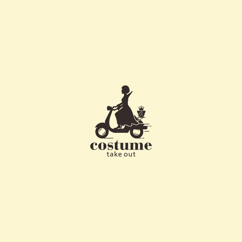 Logo for costume take out
