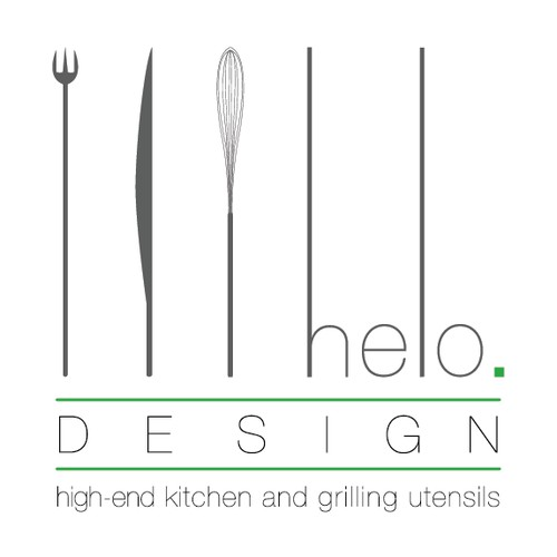 Create a simple and clean logo for a kitchen company