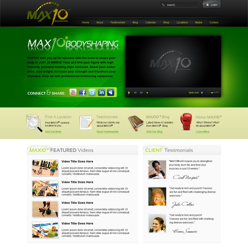 Exciting Progressive Group Bodyshaping Fitness Program Template
