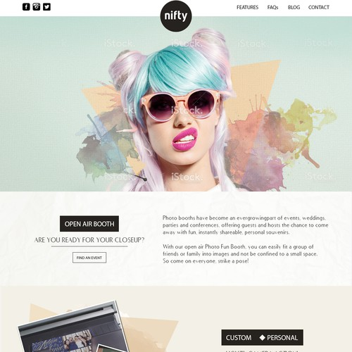 Nifty ome Page Design
