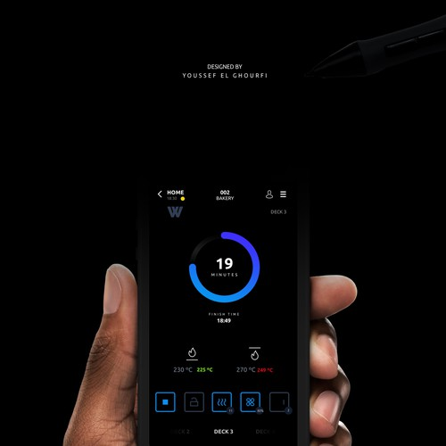 Home Screen for Industrial Touch Control Unit