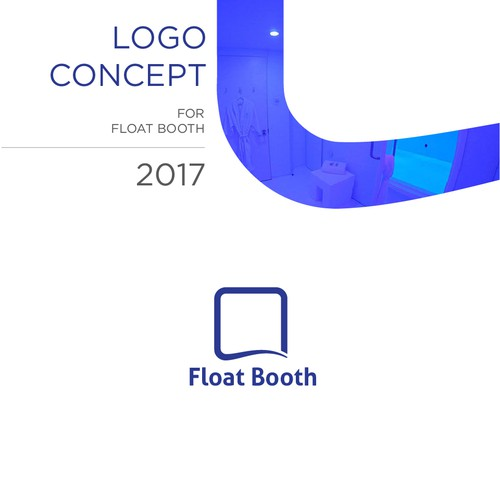 Minimal logo for Float Booth