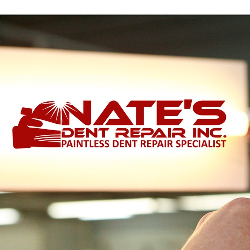 New logo for a high end paintless dent repair company