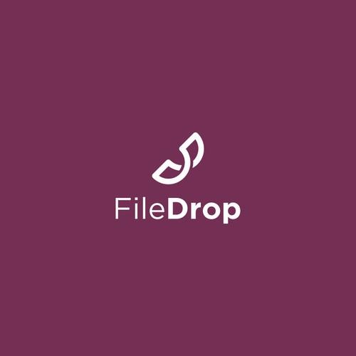 Line art logo for temporary cloud storage: FileDrop