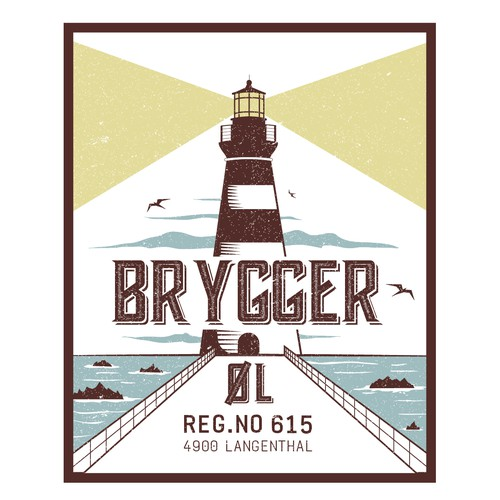 Brygger beer bottle label