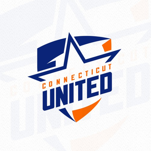 I made this Connecticut united logo design for a Youth Hockey League