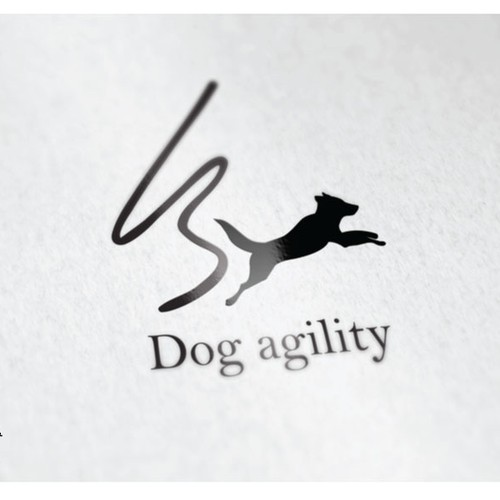 Competition dog agility instructor logo for high-end dog training
