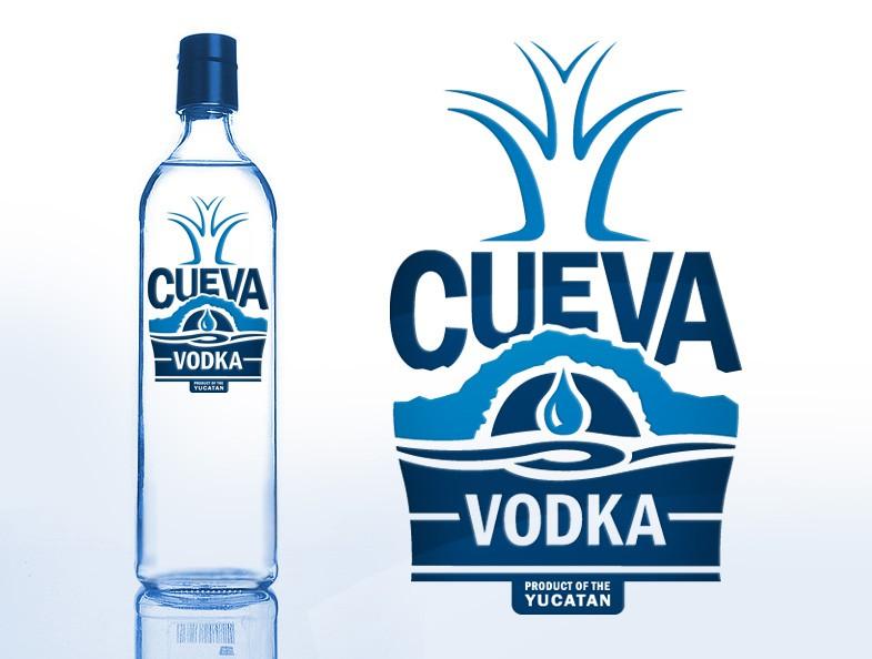 Create the next label/logo for Cueva Vodka
