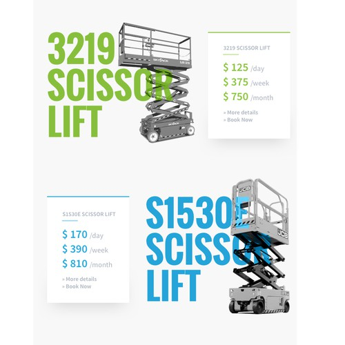 Custom promotional email for equipment rental company