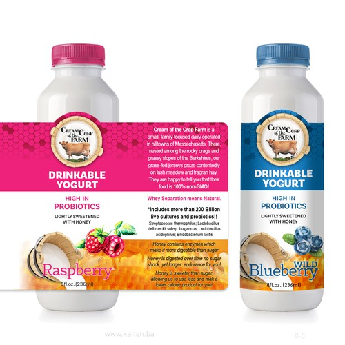 Label concept for yogurt