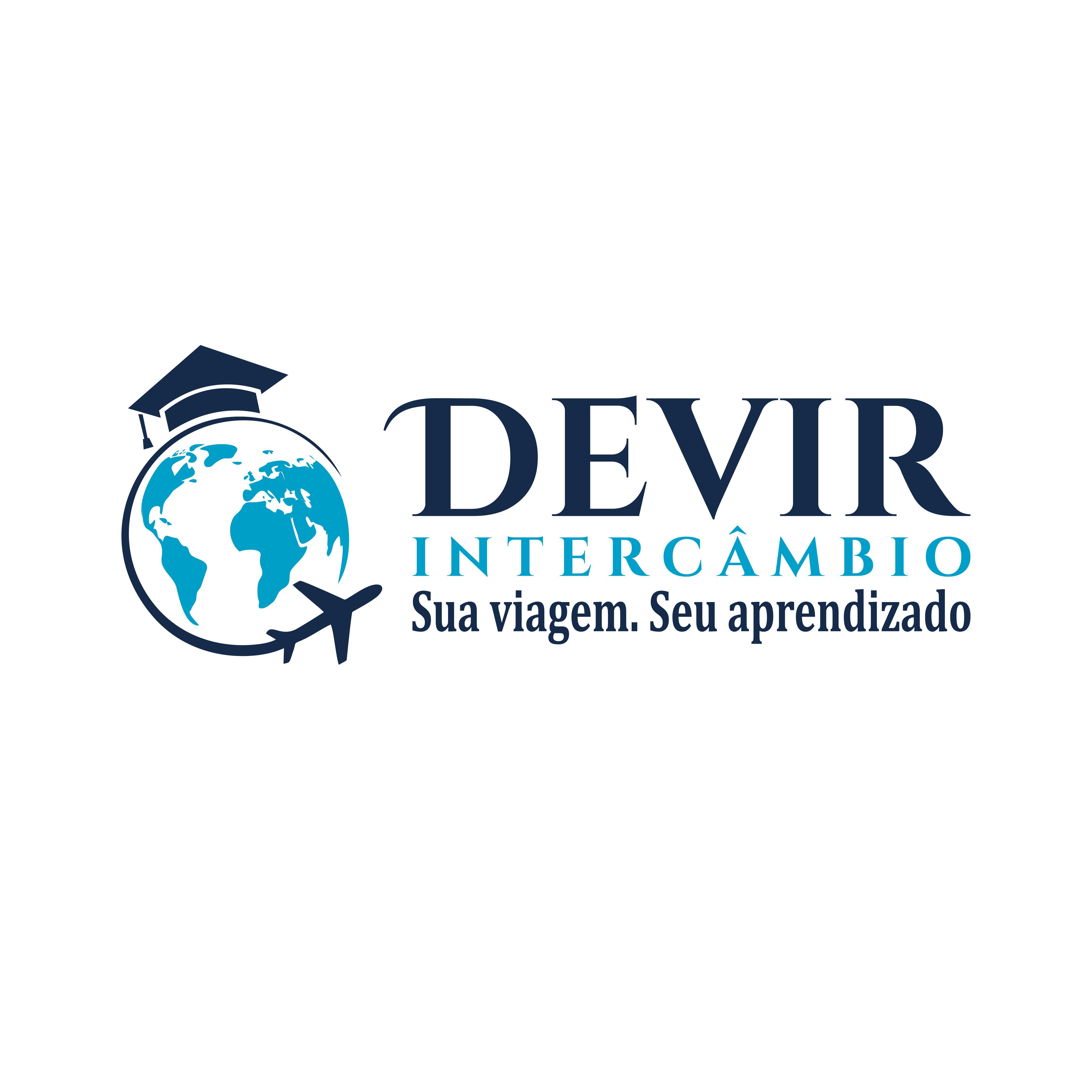 Crie um logotipo atraente e que dialogue com educação internacional/estudos no exterior