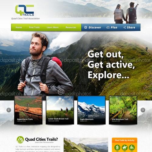 Travel Guide Website Design Concept