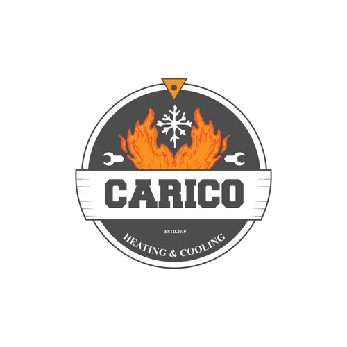 Logo concept for carico heating and cooling