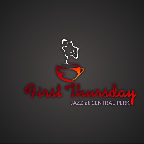 First Thursday Jazz at Central Perk needs a new logo