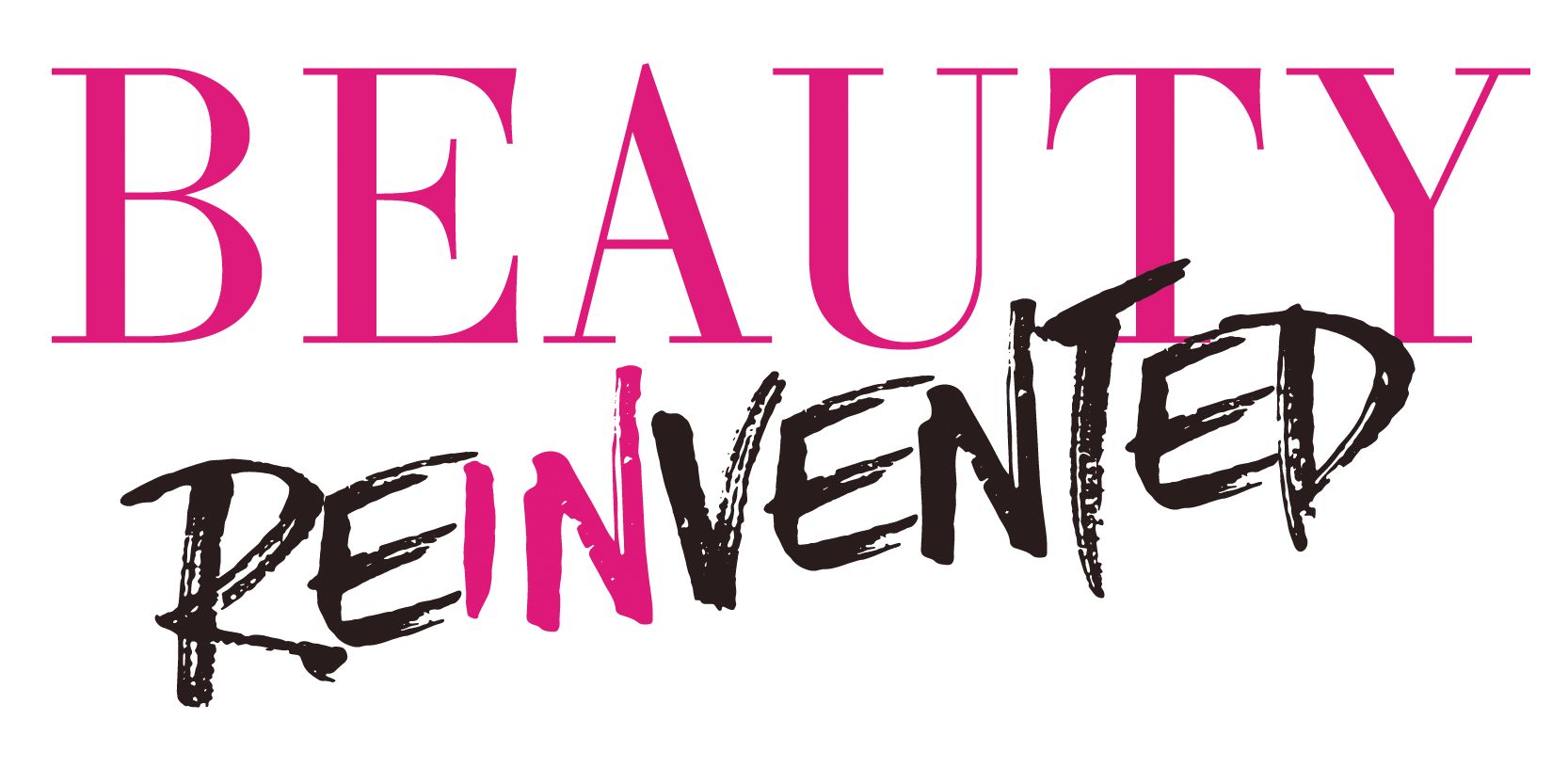 Beauty Reinvented interior design and typesetting