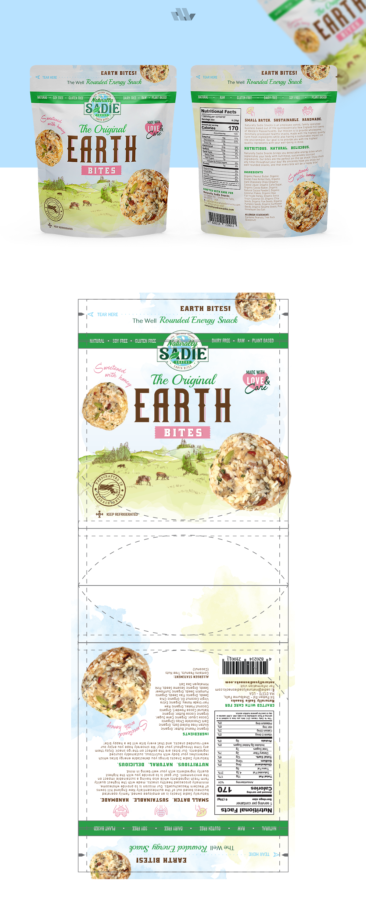 Design an Awesome Packaging Design for Naturally Sadie Snacks