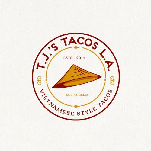 logo for t.j. tacos l.a