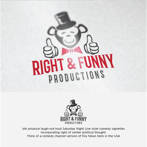 Logo design for Right & Funny video production