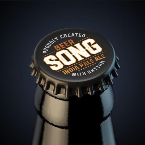 Song beer label design