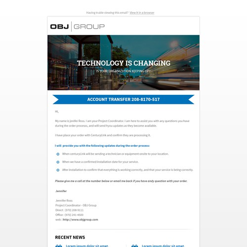 OBJ Group - Email template