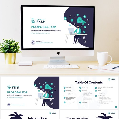 Powerpoint with Illustration style