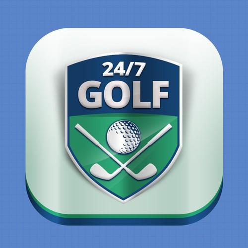 24/7 app golf logo