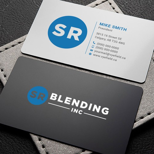 Business Card Design for SR Blending Inc.