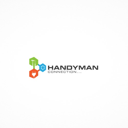 Geometric logo for Handymen Connection