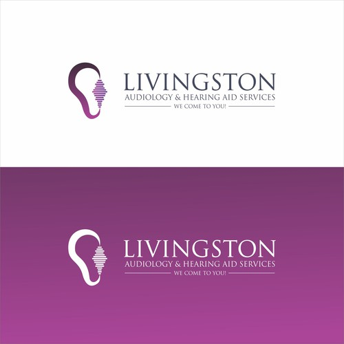 Audiology and hearing Aid Service logo design