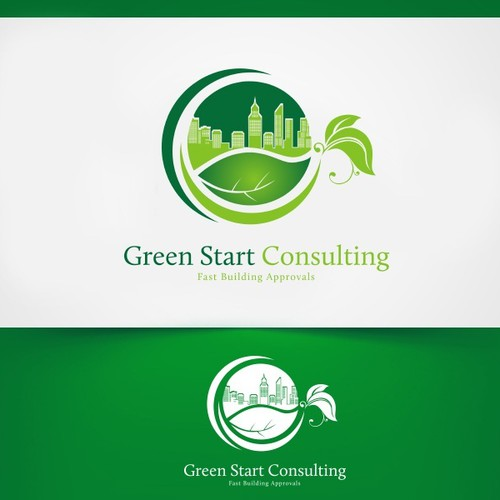 Create a great logo and business card for Green Start Consulting!