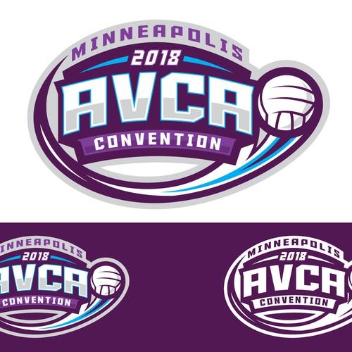 bold volleyball logo