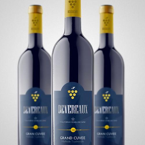 Devereaux  Sparkling Wine Label 2015