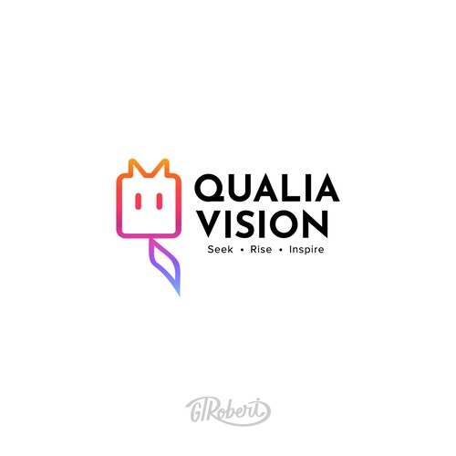 Qualia Vision logo design