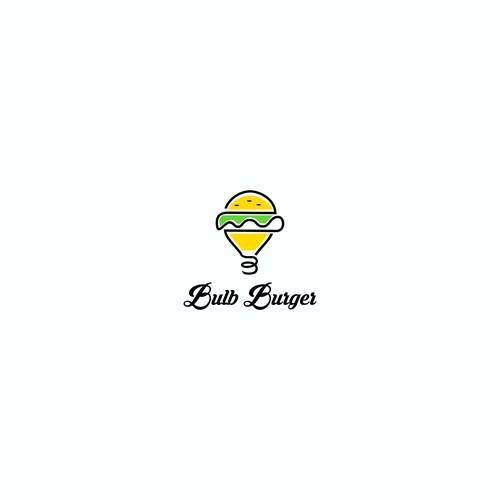logo concept for Bulb Burger