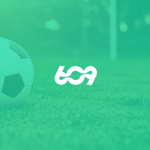 Negative space logo for digital marketing football company