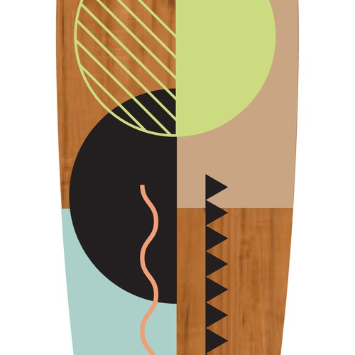 Creative, semi transparent design for longboard