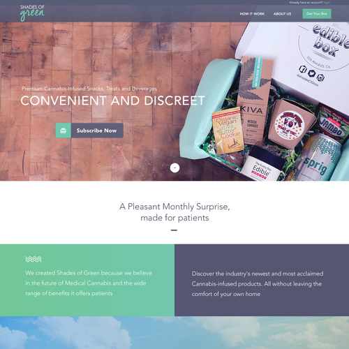 Shade of green Landing page