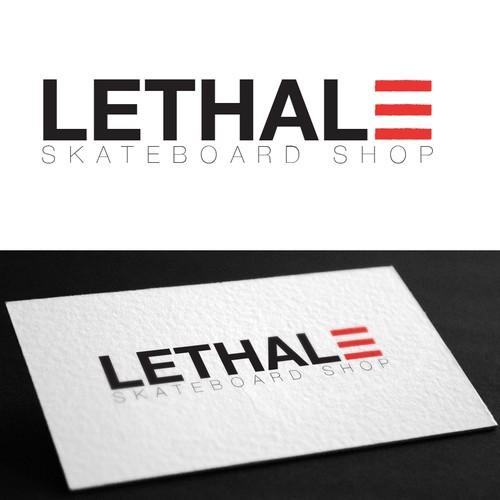 Concept logo for Lethal E Skateshop