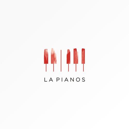 logo concept for la pianos