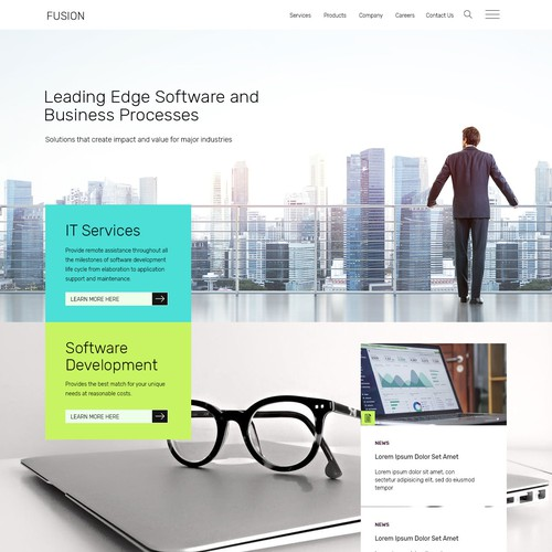 Flat Technology Website Design