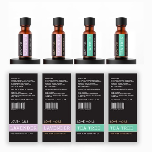 Essential Oils label
