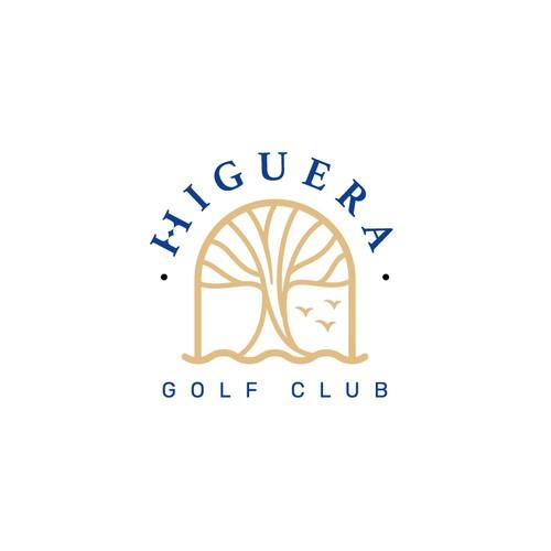 Organic shape logo for a golf course in Riviera Nayarit