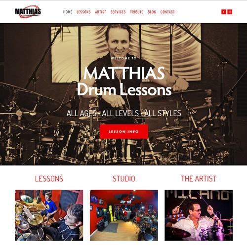 Website Design for Musician & Music Instructor