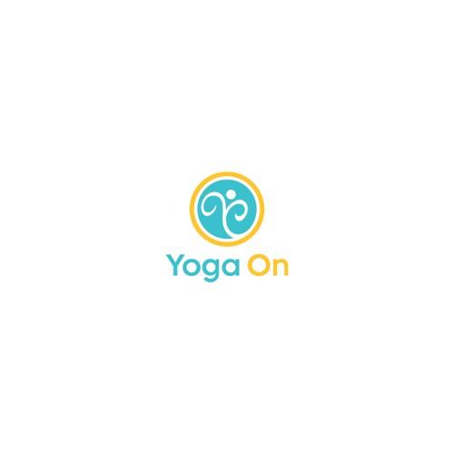 Create a vintage floral hot yoga studio logo for YO
