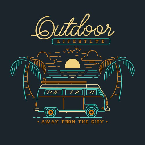 MENS VINTAGE OUTDOORS GRAPHIC TEES