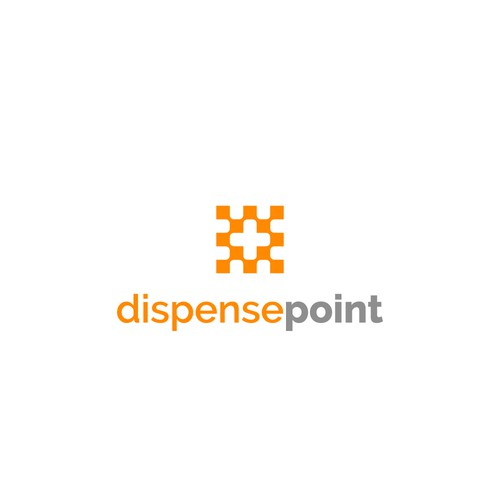 Simple logo for Dispense point