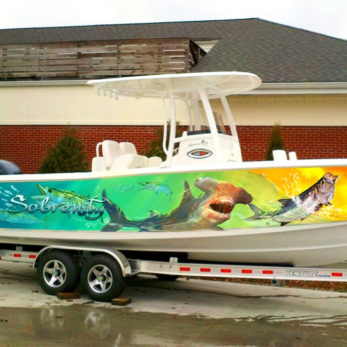 Design Needed for Boat Wrap. Will be seen by many a jealous fisherperson!
