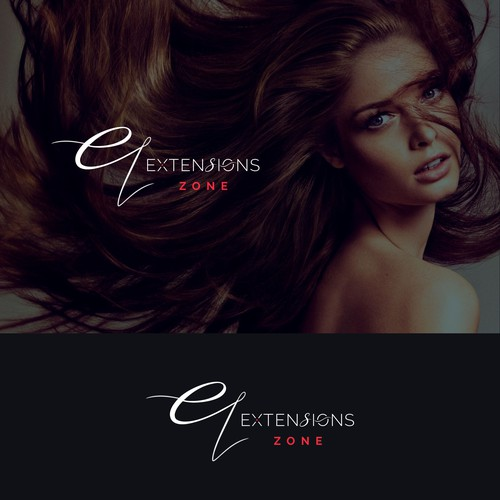 Elegant logo for an extesions company