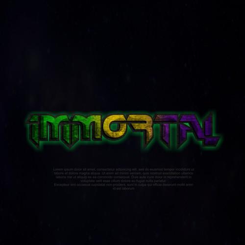 grunge and futuristic logo 2