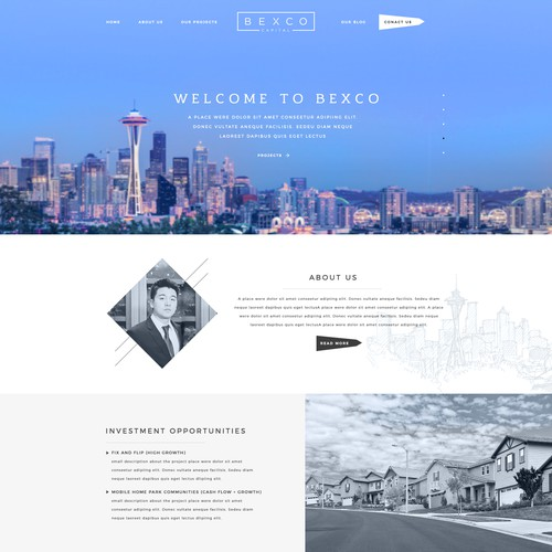 Stunning Web design Concept for a Real Estate Investment Firm